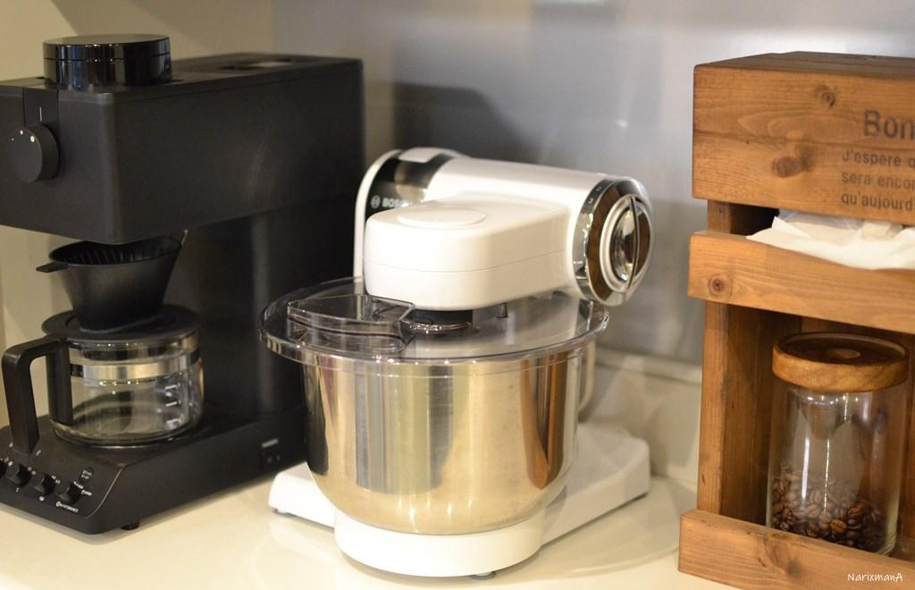 コンパクトキッチンマシンの収納例の様子